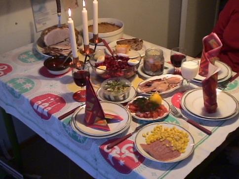 christmas food on the table