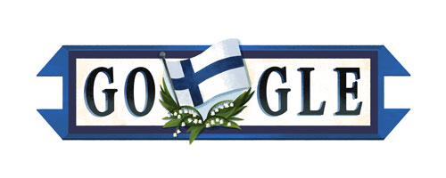 google logo with Finnish flag
