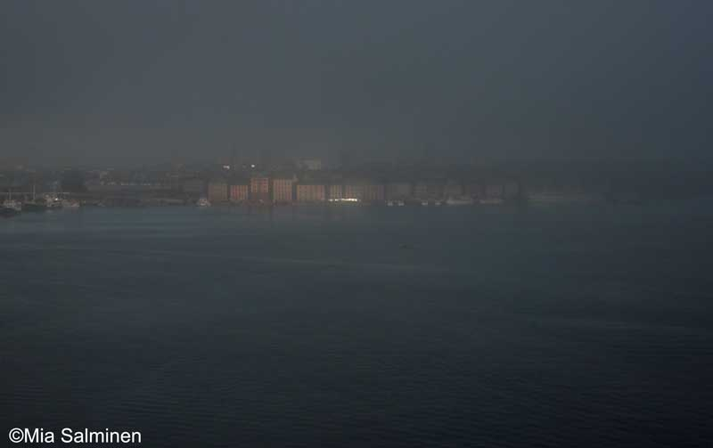 Stockholm in the mist