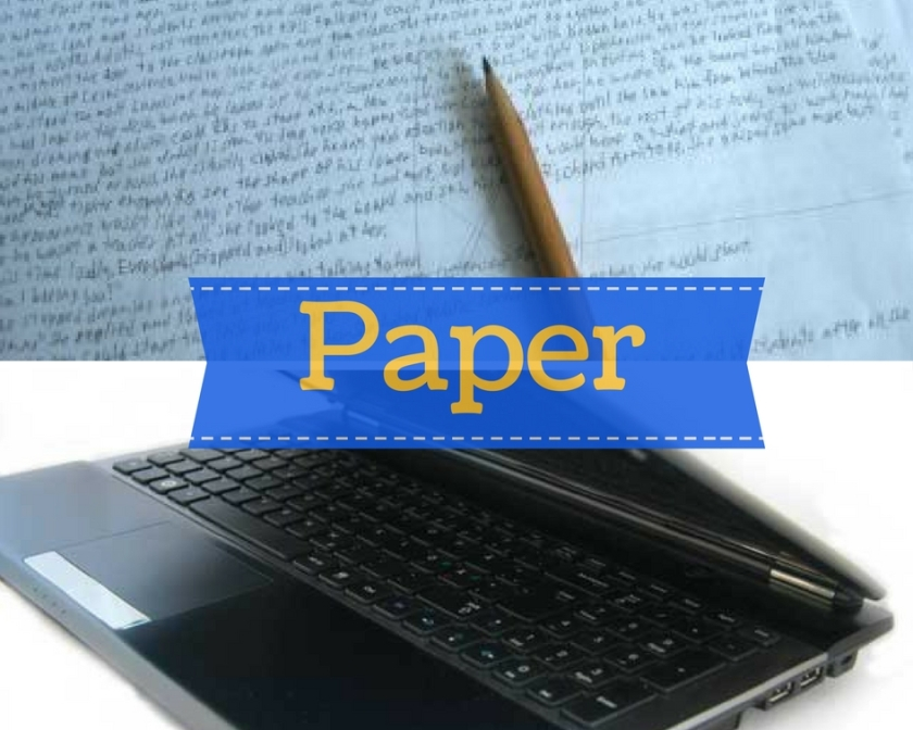 paper and lap top