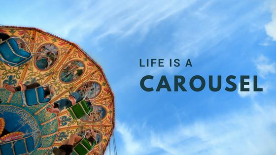 carousel and blue sky