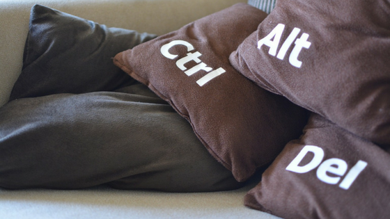 ctrl alt del pillows