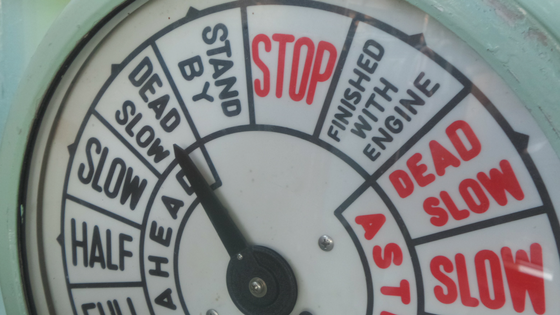 speedometer from an old ship