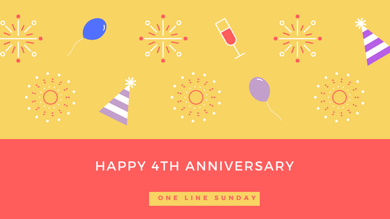 one line sunday anniversary