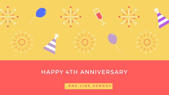 one line sunday anniversary