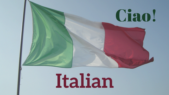 wavy Italian flag