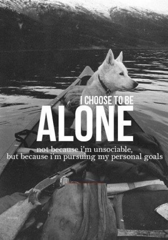 choose to be alone quote