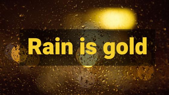 rain is gold