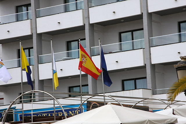 spanish flag on pole