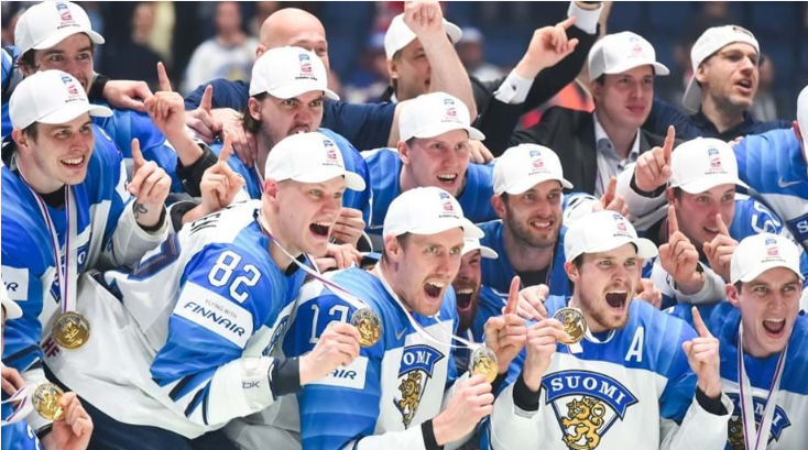 Finnish ice hockey team wins