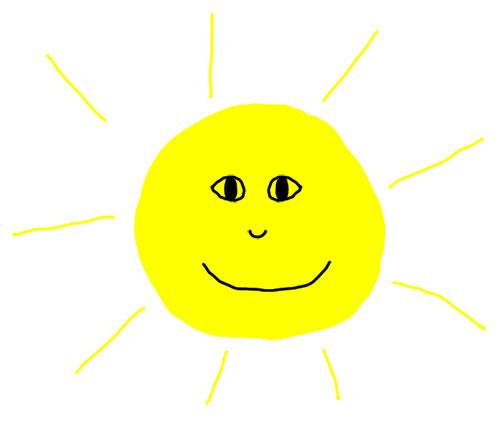 illustrated smiling sun