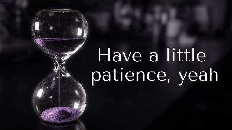 hourglass patience text